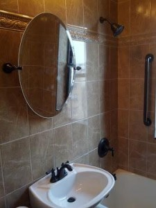 Finished bathroom remodeling project in Minneapolis, MN