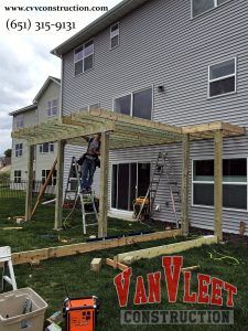 green treated deck framing and construction