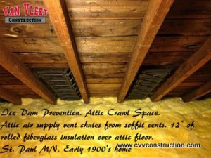 Minneapolis Ice Dam Prevention- Insulation Instalation-