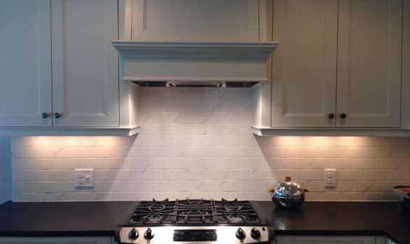 Kitchen Remodel project in Minneapolis, MN- Photo of beautiful painted maple cabinets- Granite countertops