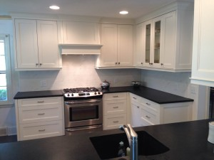 Kitchen Remodel, granite contertops, white cabinets
