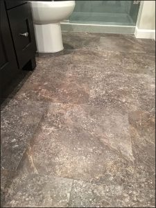 Adura luxury vinyl tile project, bathroom remodel