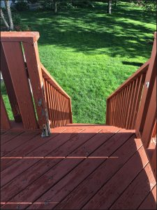 Deck on home in Blaine, MN