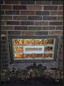 Glass block window installation