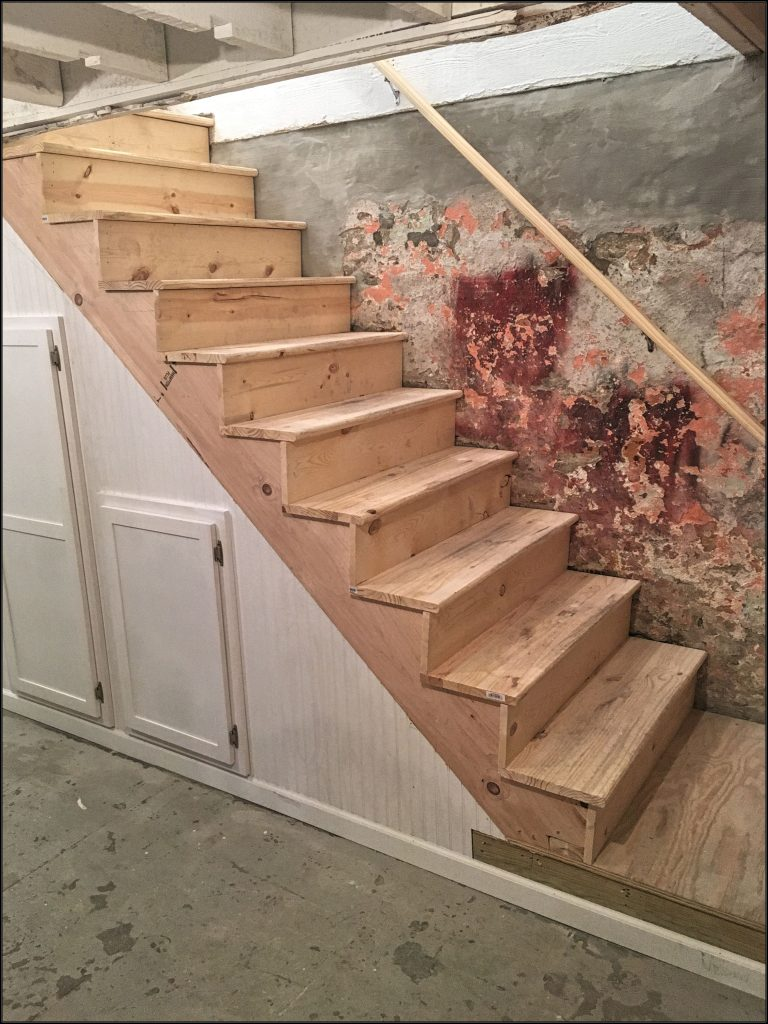 basement steps replacement, carpentry