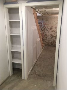 built in cabinets under basement steps, Twin Cities Carpenter