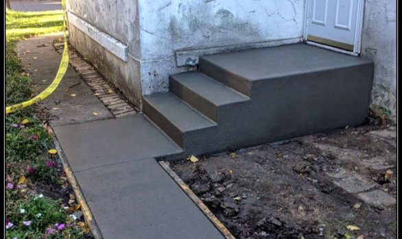 cement step installation