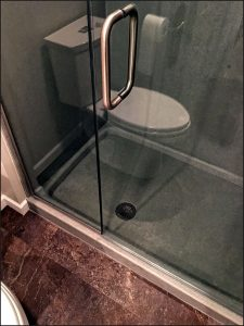 hinged shower door replacement, Onyx Collection shower installation