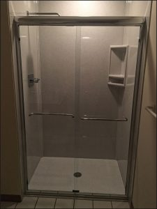 "48"" Blizzard Onyx Collection shower replacement project in Plymouth, MN"