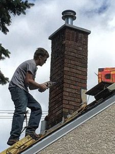 Chimney tuck pointing project