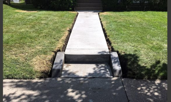 cement sidewalk replacement project St. Paul MN