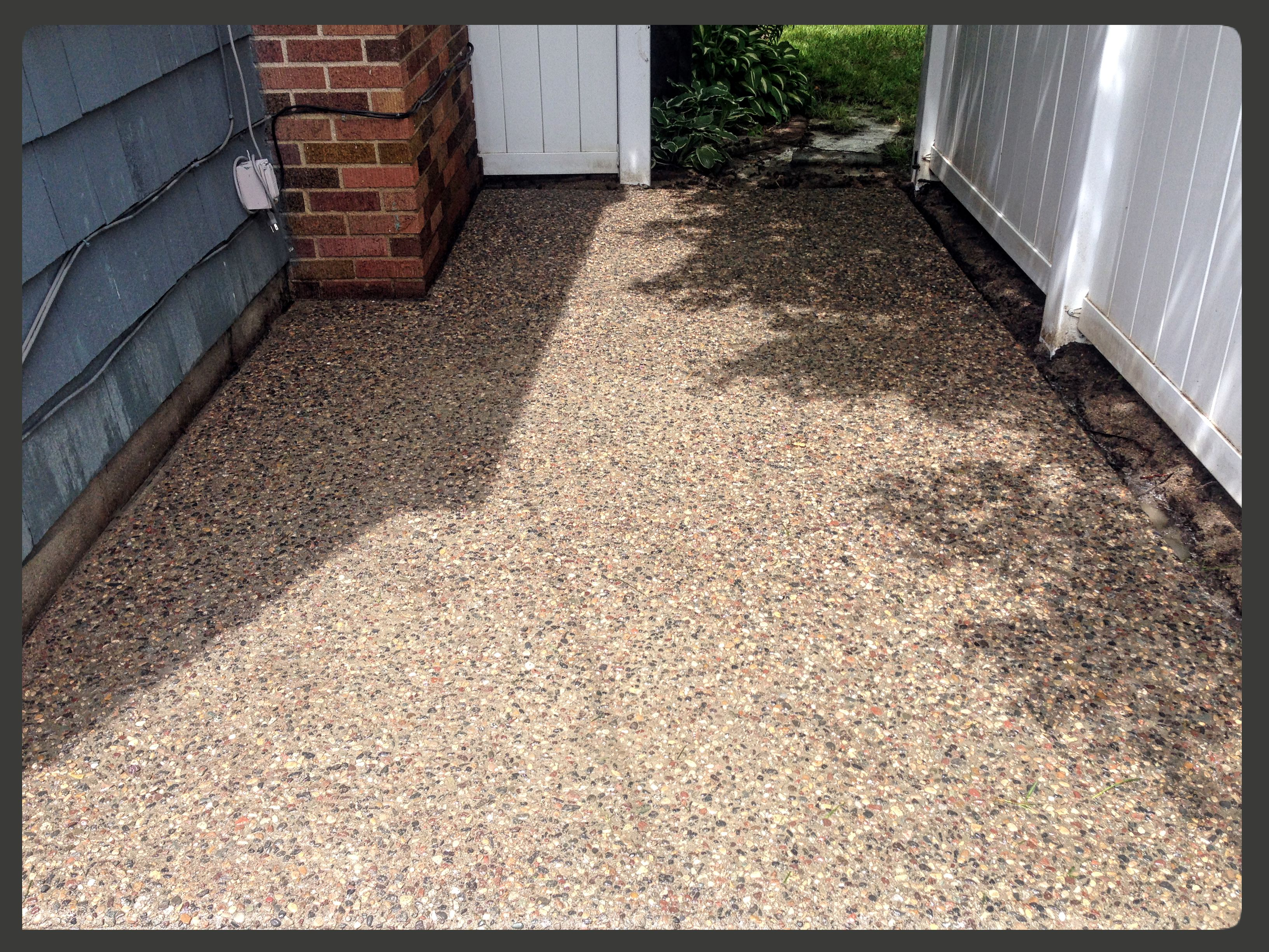 ... exposed aggregate cement patio St. Paul MN & Exposed Aggregate Patio St. Paul MN | VanVleet Construction