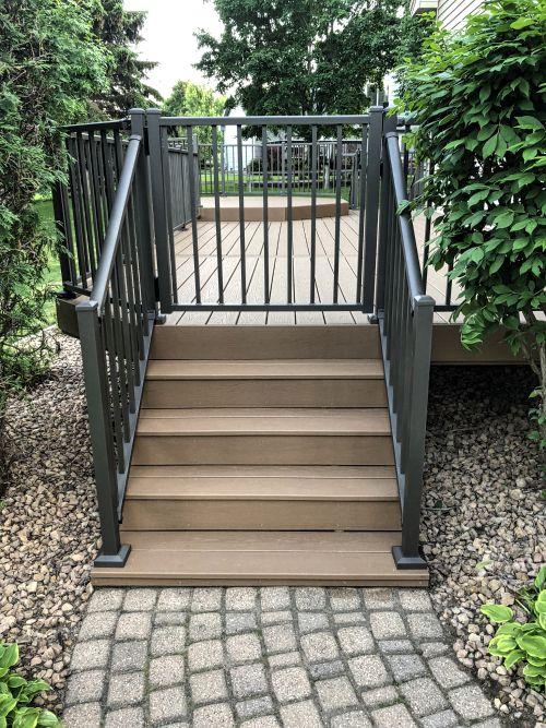 Westbury fine texture bronze deck gate